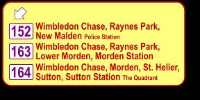 Complete Public Transport, Bus Route map of Wimbledon